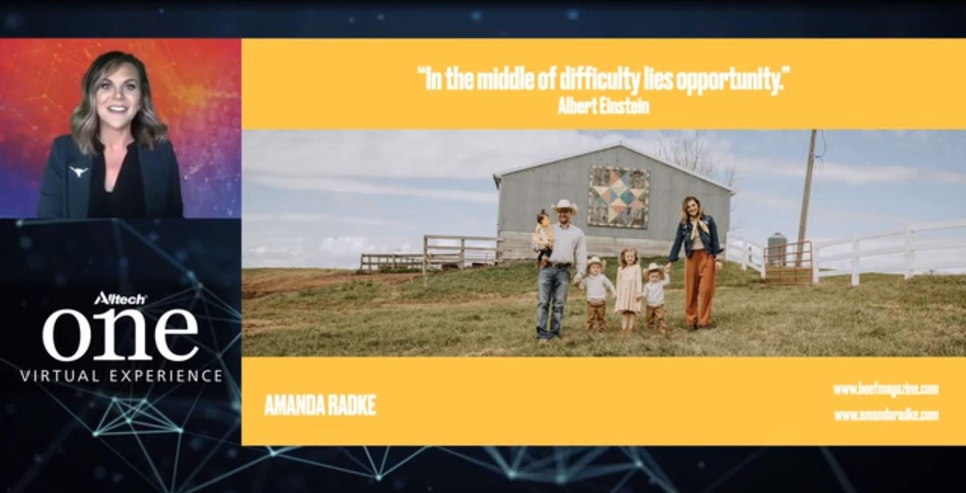 """Amanda Radke con el tema """"Carne de res: cambiando nuestra mentalidad y dando forma a nuevas oportunidades en el negocio de la carne de res"""""""