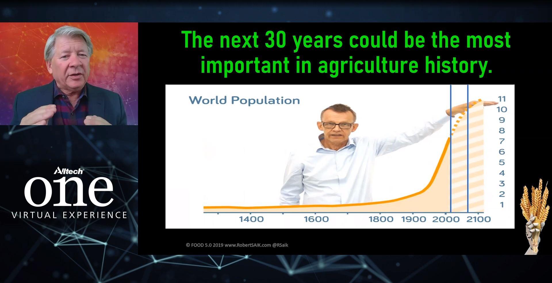 "Robert Saik con el tema ""Agronegocios: Alimentos 5.0: Agricultura para alimentar un planeta en crecimiento"""
